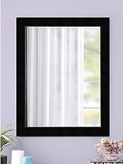 SHRI PARAMHANS TRADERS Framed Wall Mirror (Fabric_black_15 x 21 inch)