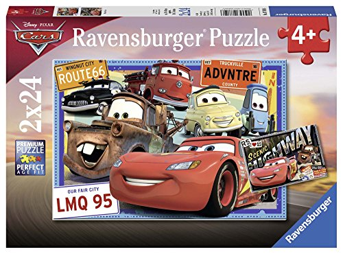 Ravensburger Italy Disney Cars Puzzle da 2x24 Pezzi, 07819