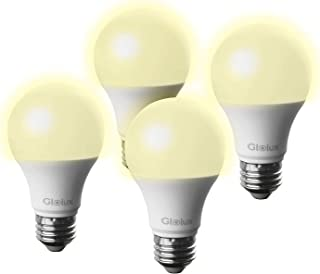 Glolux Dusk to Dawn Light Bulb Led Outdoor Lighting 60 watt Equivalent Sensor Lights Outdoor with Automatic Light Switch for Front Porch, Front Door, Garage Door, 800 Lumen,Soft White 3000K Pack of 4