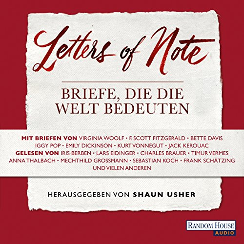 Letters of Note audiobook cover art