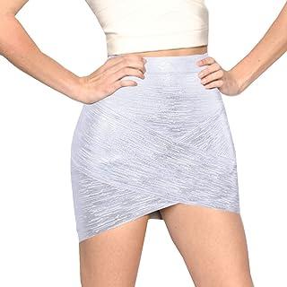 HLBandage Women's Sexy Irregular Mini Bandage Skirt