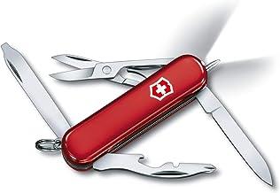Victorinox Scyzoryk Midnite Manager (10 funkcji, światło LED, nożyczki), czerwony