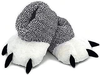 LANFIRE Patte de Velours Arctique Chaussures Ours Griffe Peluche Pantoufles Pantoufles de Coton