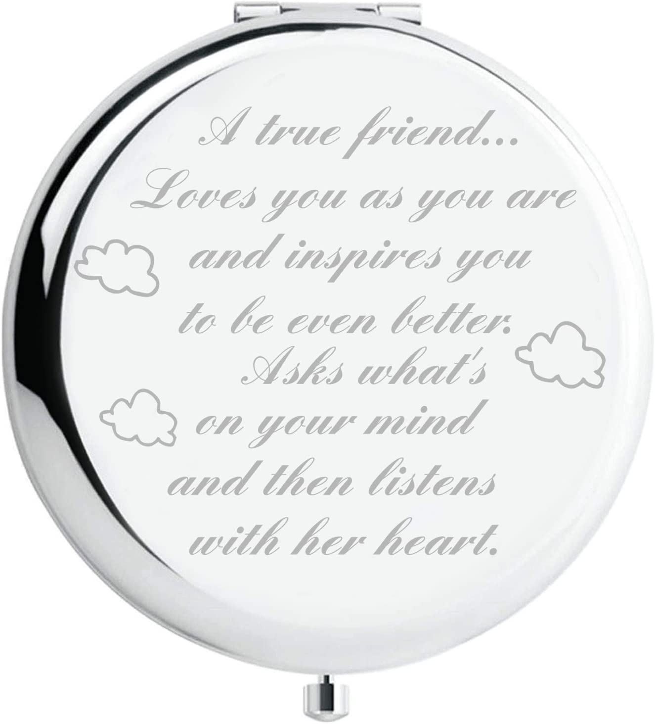 Fnbgl Friendship Personalized Travel Pocket Makeup We OFFer at Easy-to-use cheap prices Mirror True A