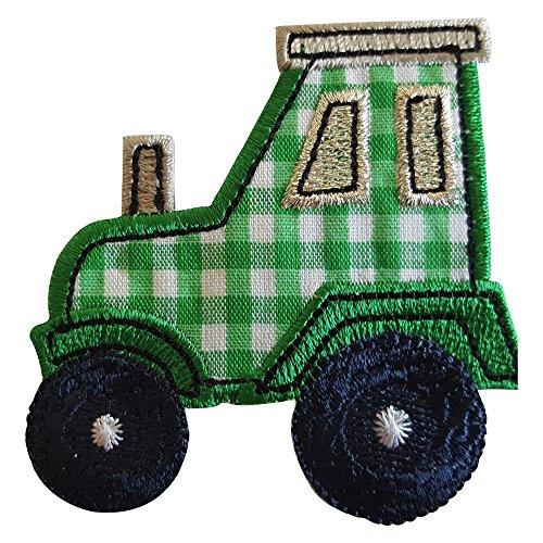 Tractor 7X7cm opstrijkapplicatie patch stof patch kledingpatch voor strijken op hemd jurken cap rok turnzak halsdoek wimpel rugzak tas hoed sjaal jeans jas kussen deurschild deken hos