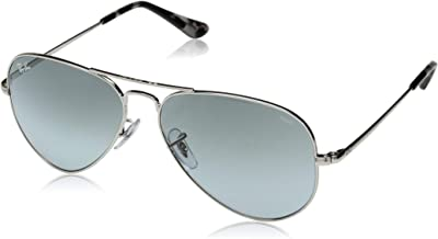 Ray-Ban RB3689 Aviator Evolve Photochromic Sunglasses, Silver/Photochromic Blue Gradient, 58 mm