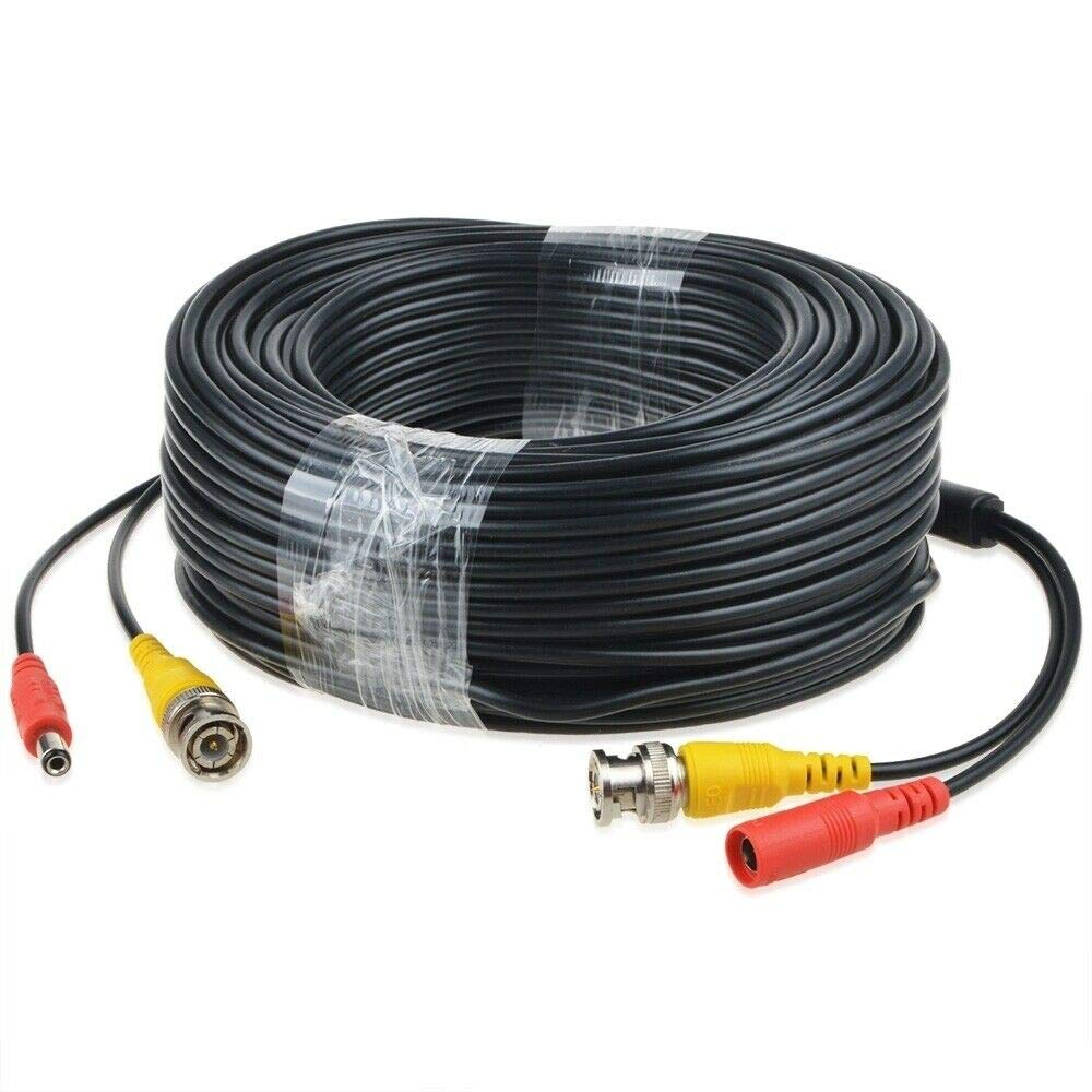 BigNewPowered 150ft Black BNC Video Power Wire safety for Max 63% OFF Samsung Cord