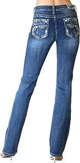 Grace in LA Jeans | Women Embellished Back Pocket Stretch Bootcut Jean | EB61350