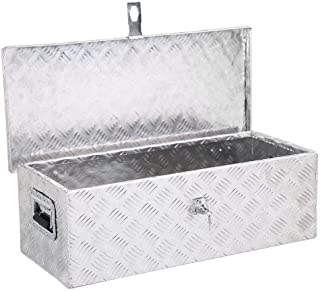Yaheetech 30 x 13 inch Heavy Duty Aluminum Tool Box Pickup Truck Bed Storage w/Lock Silver (Renewed)