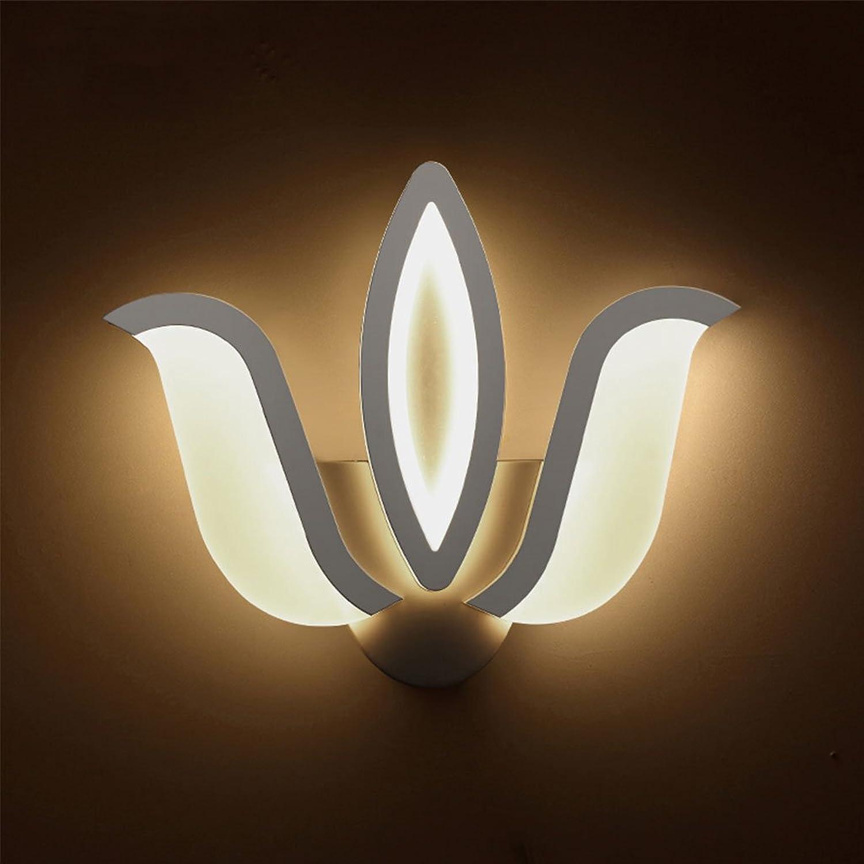 Unbekannt CHENGYI Wandlampe, LED Nachttisch Wandleuchte Wohnzimmer Korridor Schlafzimmer Balkon Kreative Moderne Einfache Dekoration Nachtlicht (Farbe   Weiß Light, Größe   28  20cm-10w)