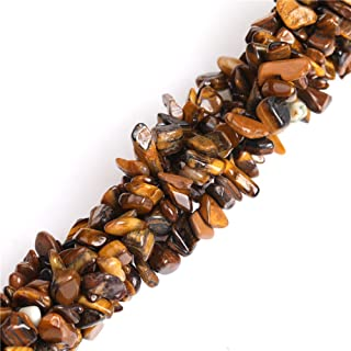 6-8mm Tiger Eye Natural Stone Gravel Gemstone Chips Beads for Jewelry Making Loose Beads Wholesale Freeform Yellow Brown 34