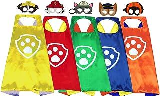 Yalla Baby Superhero Animal Cartoon Costume Cape and Felt Mask Dress Up for Kids Boys & Girls 3-12 Years