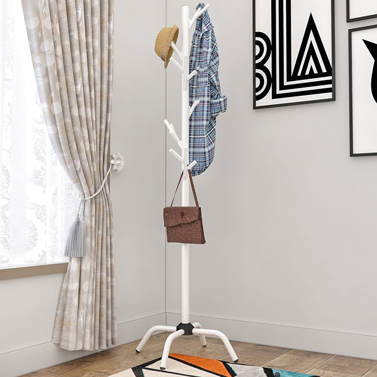 Coat Rack Multi-Functional Landing Home Bedroom Hanger Clothes Rack Living Room Creative Clothes Rack Durable (color   White)