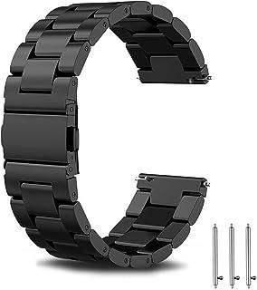 سوار ساعة معدني من جوتك لساعة سامسونج جير اس 2 فرونتير/ كلاسيك 20 ملم، وجالكسي واتش 46 ملم، مع قفل فراشة قلاب بزر مزدوج AB...