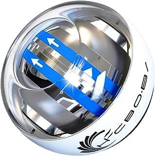 スナップボール オートスタート LED発光 手首 リストトレーナー 腕力 握力 筋力 トレーニング ジャイロ回転 自動回転 初心者 上級者 専用ケース付きで収納も便利