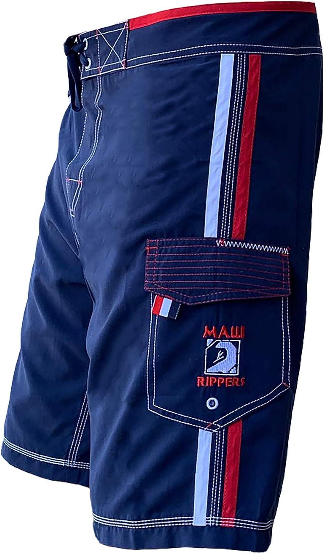Maui Rippers Men's Board Shorts - USA Patriot Swim Shorts