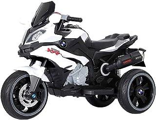 دراجة نارية RFSTGYU ثلاثية للأطفال، ركوب ألعاب للأولاد والبنات، حتى موسيقى كهربائية دراجة نارية 6 فولت بطارية 3 عجلات للأط...