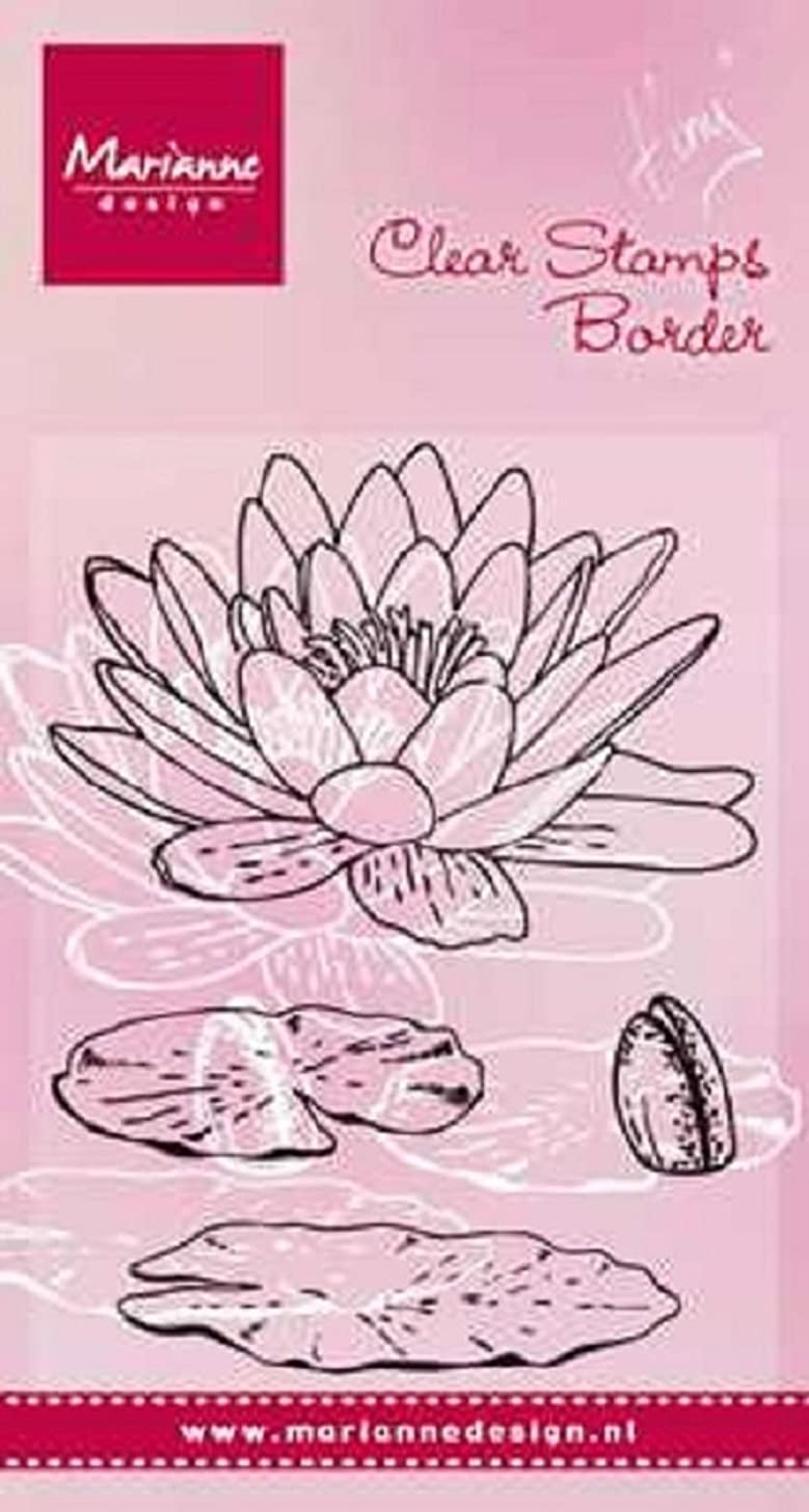 Marianne Design Clear Stamp TC0850?Tiny's Water Lily, 7.5?x 14.0?x 0.5?cm