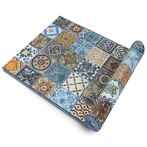 Floordirekt Teppichläufer Bonita |Teppichläufer Meterware |für Wohnzimmer, Flur, Büro, Schlafzimmer, Küche, Esszimmer | gekettelt | (80 x220 cm)