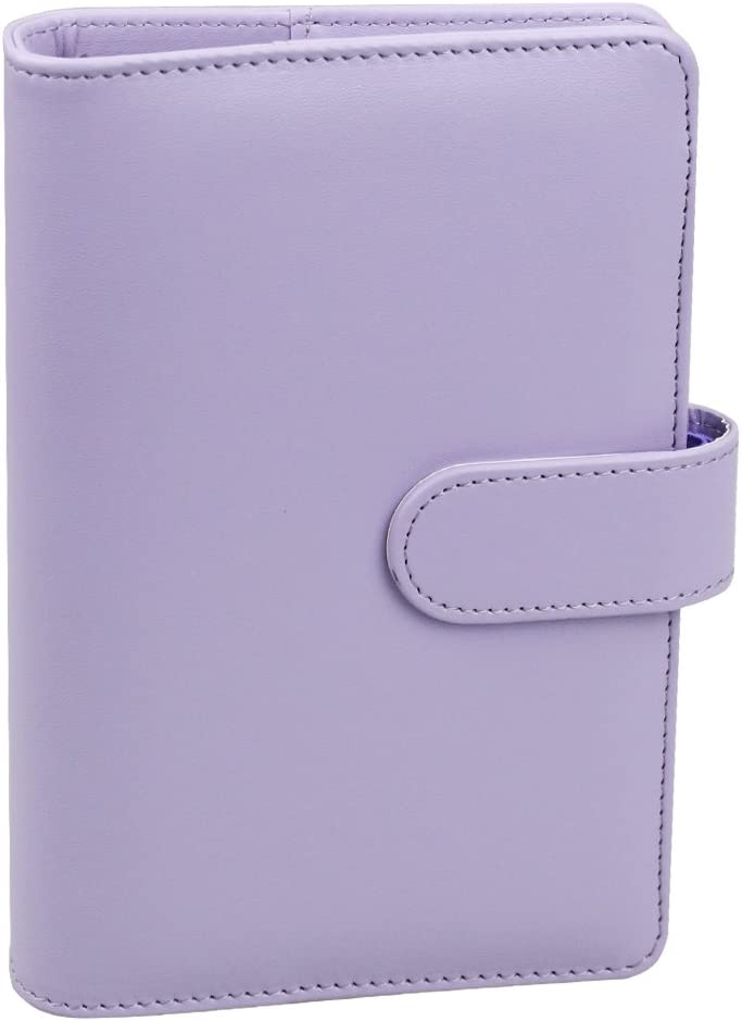 Max 40% OFF A6 PU Leather Notebook Binder Selling rankings Ring Cov Refillable Round 6