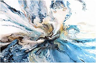 memorytime Colorful Ocean Abstract Canvas Painting Wall Picture Art Poster for Living Room Home Decor 50x70cm