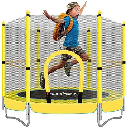 Pandady 5 FT Kindertrampolin, Yard Trampoline Jumper Innen Zuhause Im Freien Geeignet Für Kinder Fitness-Trampolin Mit Sicherem Netz, Eltern-Kind-Spielzeug Fitness Entertainment Projekten