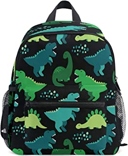 Cute Childish Seamless Pattern With Dinosaurs PreSchool Bag Kids Backpack for Toddler Boy Girls Age 2-7