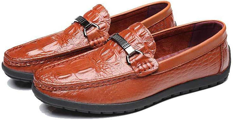 JIAW JIAW JIAW Män's krokodilmönster fot platt kikärtor som kör skor  det senaste varumärket outlet online