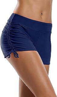 ALove Womens Stretch Board Shorts High Waisted Beach Bottom Swim Shorts Swimsuit