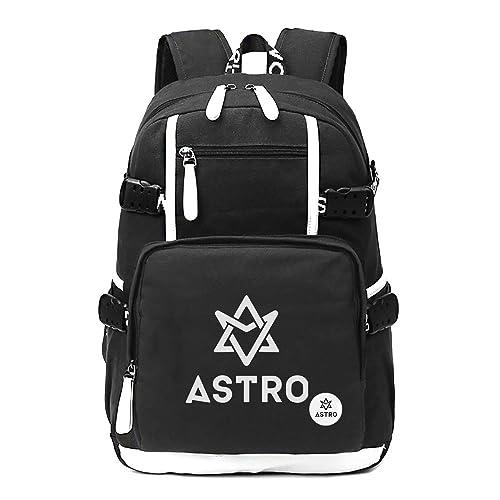 163614cbdce3 Fanstown Kpop Hiphop Backpack pin Botton Set Canvas Messenger Bag with lomo  Cards