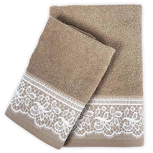 Juego de toallas de baño Paradise 100 % de rizo de algodón, toalla para la cara, 60 x 100 cm, para invitados, 40 x 60 cm, color gris