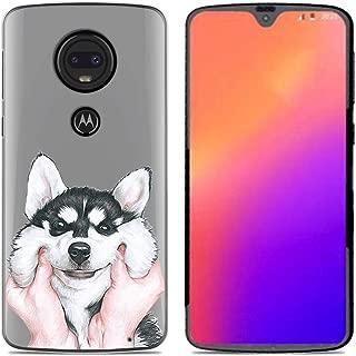 ANERNAI Compatible with Motorola Moto G7 2019 Case, Ultra-Thin Pattern Design Soft Flexible TPU Shockproof Cute Anti-Scratch Cover Case (Dog)