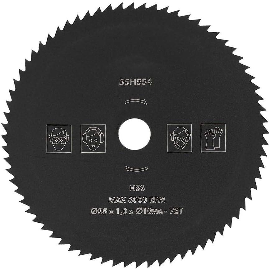 Hojas de Sierra Circular, 85 mm 10 mm Ajuste Universal 72T HSS Hoja de Sierra Circular Disco de Corte Mesa de Rueda Corte de inglete para Trabajos de Madera y Metal