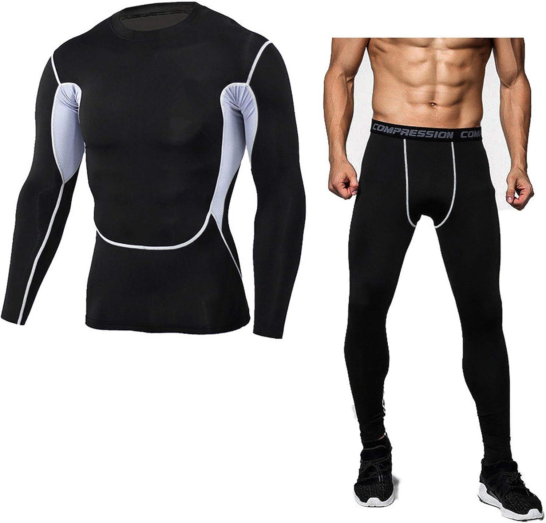 Thermal Underwear for Men Soft, Mens Long Johns, Active Mens Thermal Underwear Set with Top & Bottom Compression Suit
