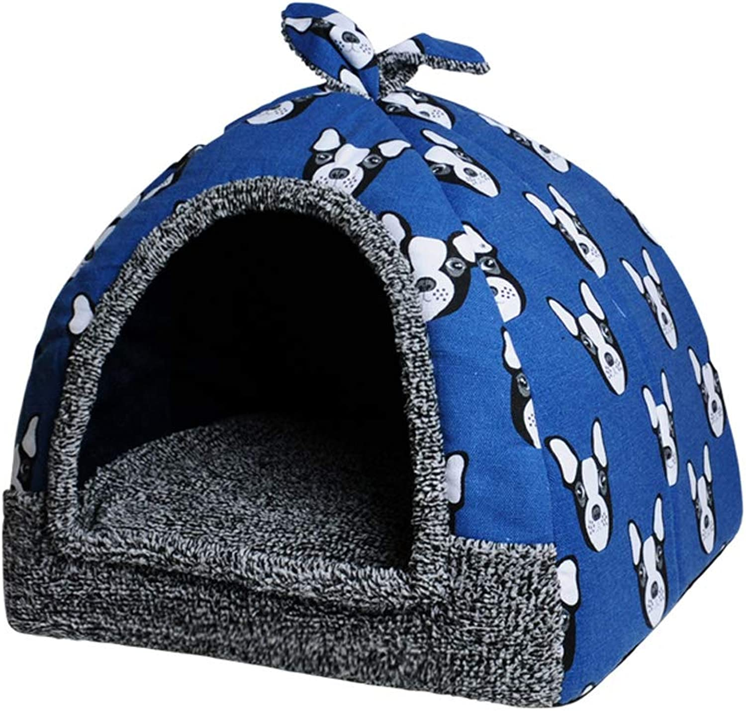 Cat Bed Tent House, 2in 1 Pet Bed House Self Warming Dog Cat Kitten Triangol Puppy Cave Basket con Cushion rimovibile (colore: C, Dimensione: Xl)