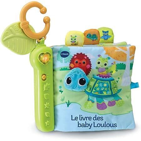VTech - Livre Toudoux des Loulous – Livre Bébé en Tissu / 6 Mois-3 Ans – Version FR
