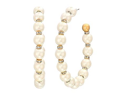 Kate Spade New York Pearls Pearls Pearls Large Hoops Earrings
