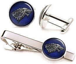 Game of Thrones Cufflinks Stark Wolf Wolf Cufflinks House of Stark Cufflinks Wolf Gift Vintage Movie Jewelry Wedding Gift Wolfs