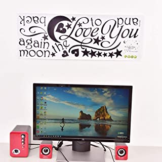 Best Quality I Love You To The Moon And Back Quote Wall Sticker Decal Lettering Words, Pads Love Moon - Moon Boots, Love You Wall Sticker, To The Moon And Back, I Love You Wall Art
