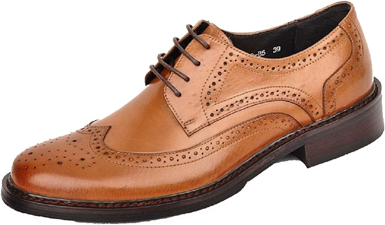 2 color US Size 5-12 New Leather Mens Lace Up Wingtip Formal Dress Oxford shoes