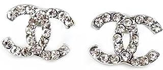 Pink® CC Diamond Goldfish Silver Plated Earrings, Gift For Women, Children, Medium Size 18X 14 mm