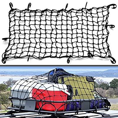 "22""x38"" Super Duty Bungee Cargo Net Stretches to 44""x76"" 