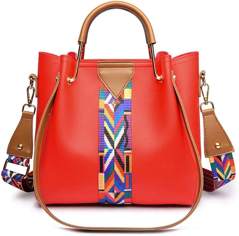 YKXIAOYU Ladies Handbag Ladies Handbag Joker Ribbon Ladies Shoulder Bag Simple Messenger Bag PC Material