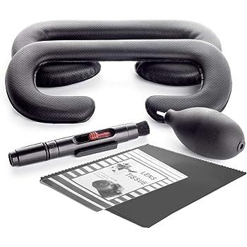 KIWI design HTC Vive用 フェイスクッション 革材 HTC VIVE VR Mask 12mm/6mm (2個セット)