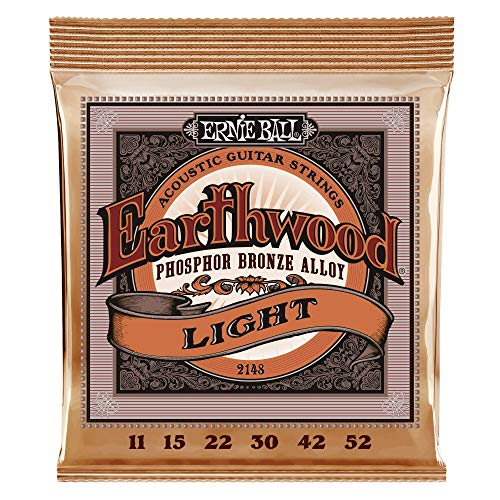 Ernie Ball Earthwood Phosphor Bronze Light (11-52) Acoustic Guitar Strings (P02148)