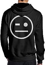 AnnaBGuillaume Men's Thank You Johnny Gargano Wink Smiley Fashion Long Sleeve Hoodie Sweatshirt Hip Hop Pullover Black