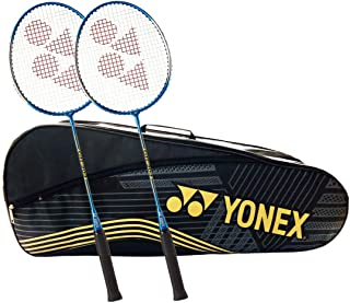 Yonex Pro-Value Badminton Combo Set (SUNR-1915 Black/Gold Bag with GR-303 2 Badminton Racquets)