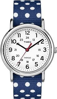 Timex Women's Weekender TW2P66000 Blue Cloth Analog Quartz Watch