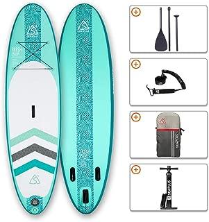 "SEAPLUS Tabla de Paddle Surf Hinchable Tabla Stand Up Paddle Board R/ígida Doble Capa con Accesorios de Remo de Aluminio//Inflador//Leash//Mochila Carga hasta 140 Kg L-BC 10/'6/""*32/""*6/"""