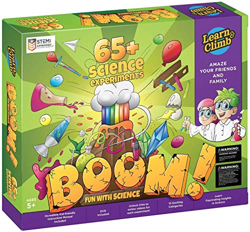 Learn & Climb Kids Science Kit - Over 60 Experiments, Fun with Science!